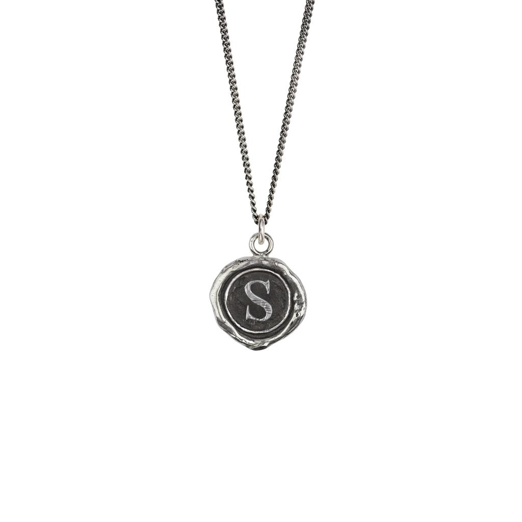 Initial S Talisman Silver | Magpie Jewellery