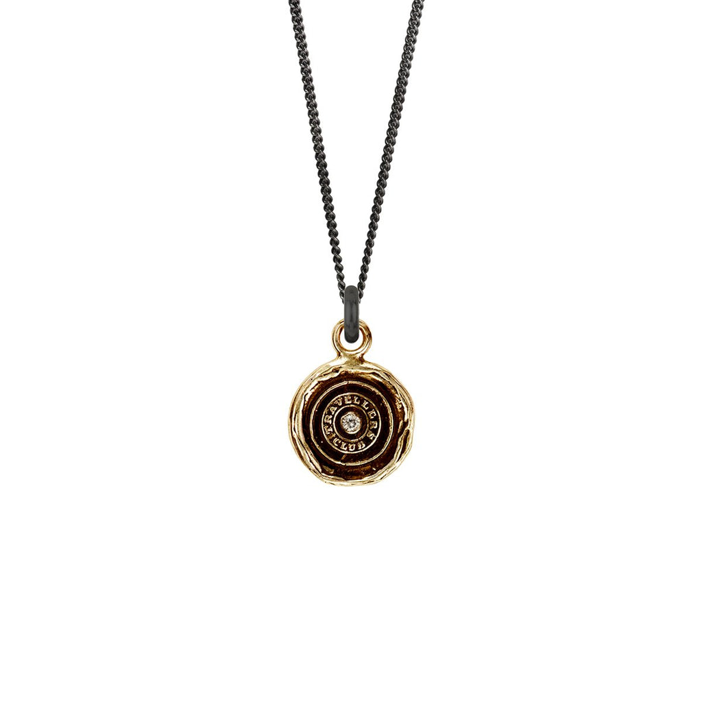 Safe Travels Diamond Set Talisman Bronze | Magpie Jewellery