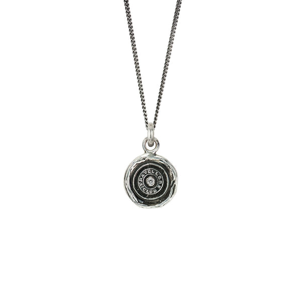 Safe Travels Diamond Set Talisman Silver | Magpie Jewellery