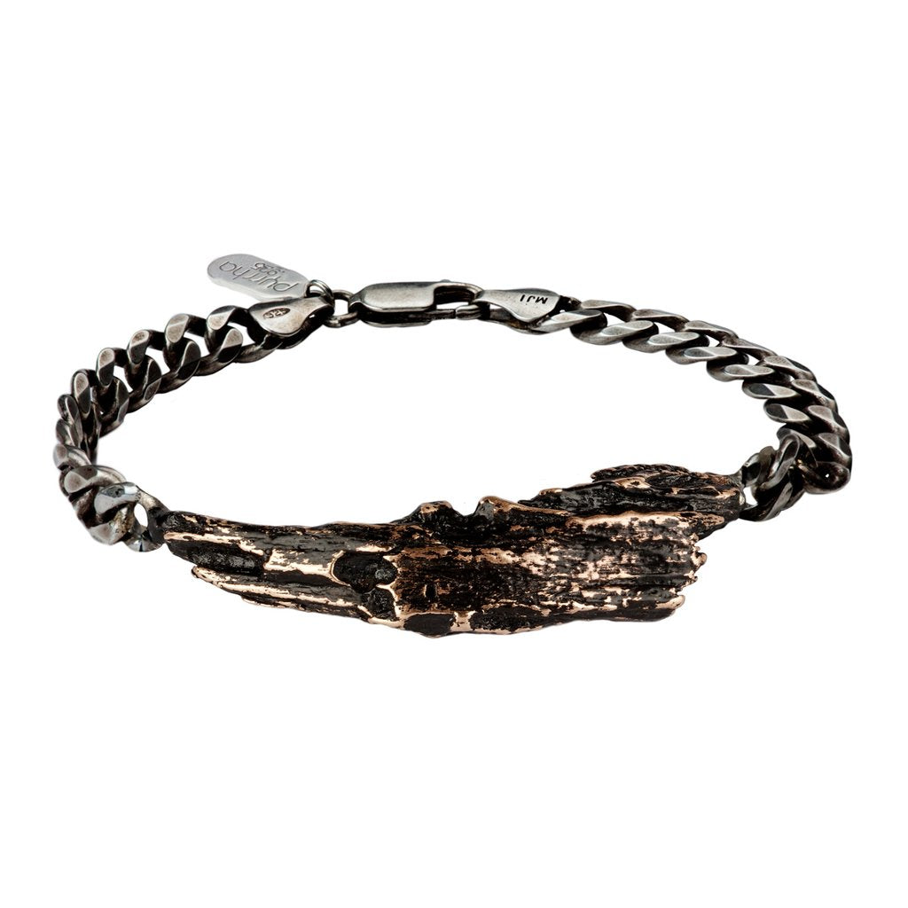 Driftwood Horn Wide ID Bracelet | Magpie Jewellery