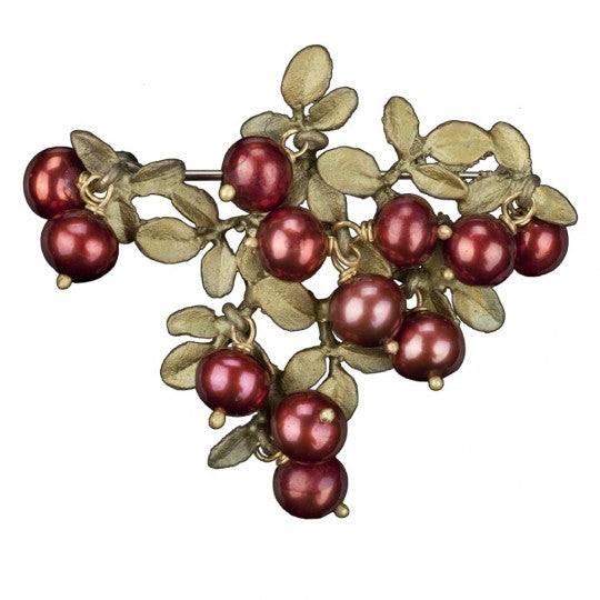 Cranberry Cluster Brooch