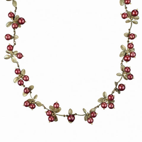 Cranberry Cluster Collar Necklace