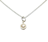 Freefall White Freshwater Pearl Necklace