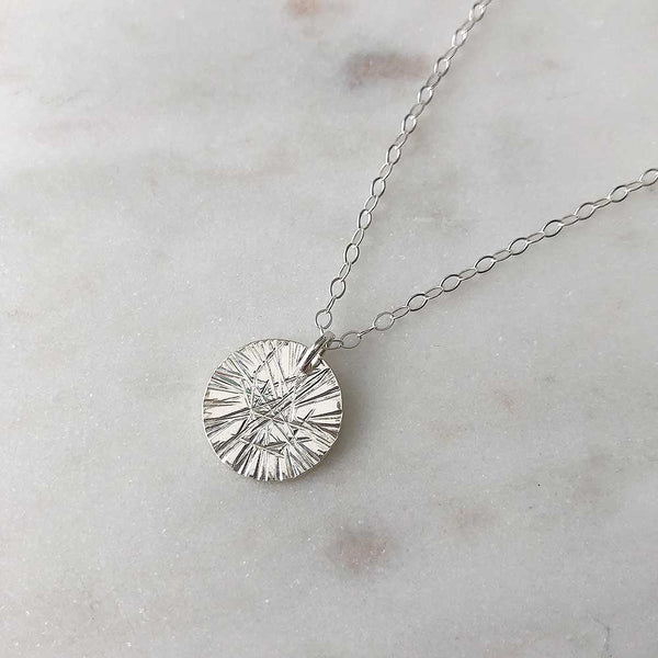 Small Medallion Necklace - Faceted