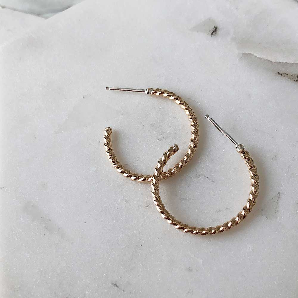 Twist Hoops - Sterling silver or 14k gold-fill