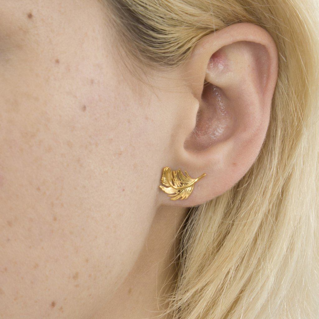 Feather Stud Earrings | Magpie Jewellery