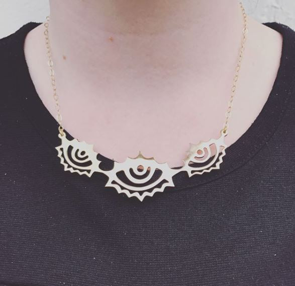 Miranda Triple Eye Necklace