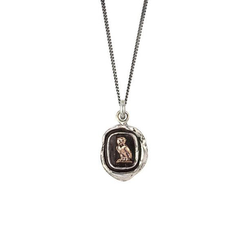 WATCH OVER ME 14K GOLD ON SILVER TALISMAN