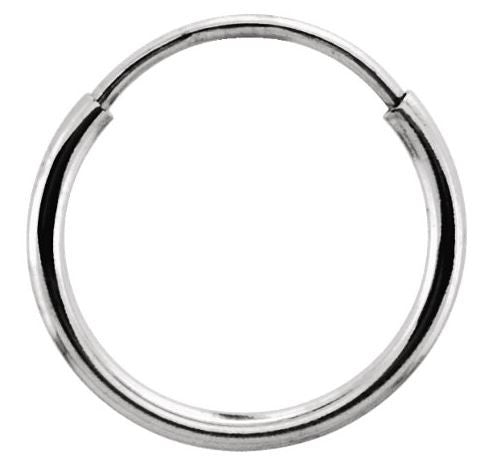 Nose Ring - 10mm - White Gold Hoop earring /Nose Ring