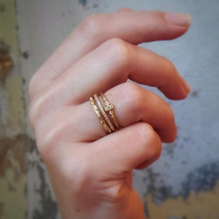 Wood Nymph Single Station Ring | Magpie Jewellery