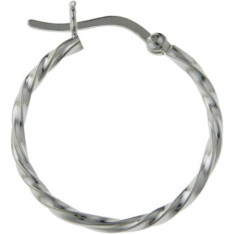Medium Twist Hoops