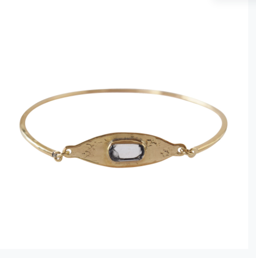 Quartz 'Eye' Clasp Bangle | Magpie Jewellery