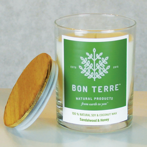 BonTerre Sandalwood Honey 100% Soy and Coconut Wax Candle