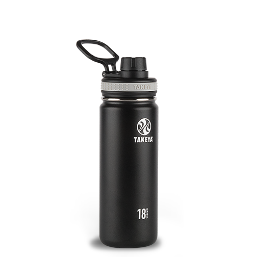 Takeya® Insulated Stainless Steel Bottle — 18 oz. — Black
