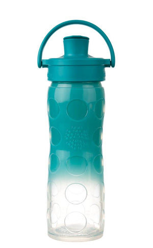 Lifefactory 16 oz. Glass Water Bottle with Active Flip Cap and Silicone Sleeve (56560517125)