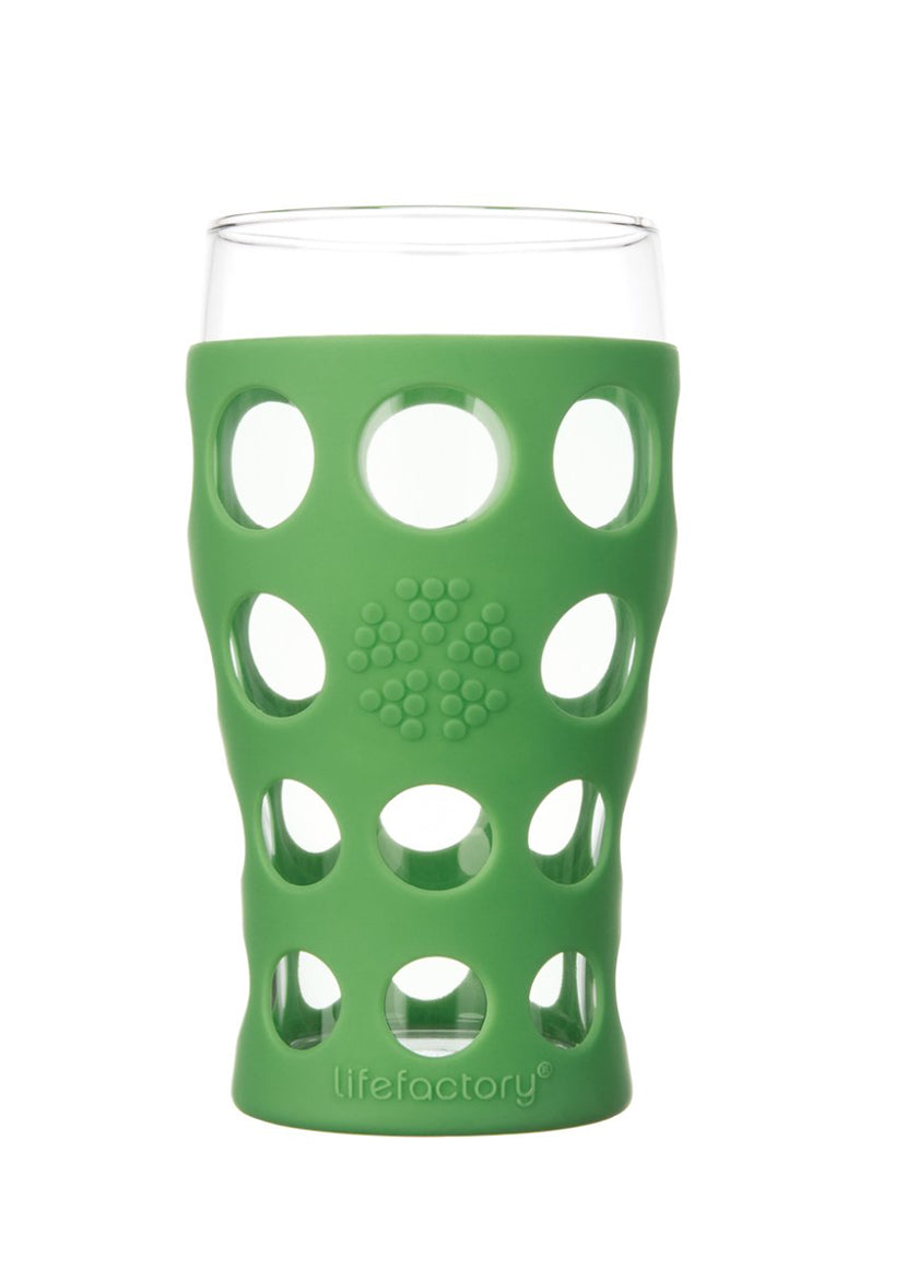 Lifefactory 20 oz. Beverage Glass With Silicone Sleeves