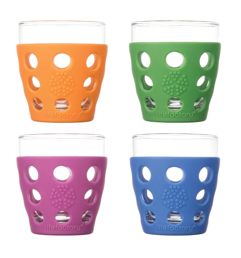 Lifefactory 10 oz. Beverage Glass With Silicone Sleeves