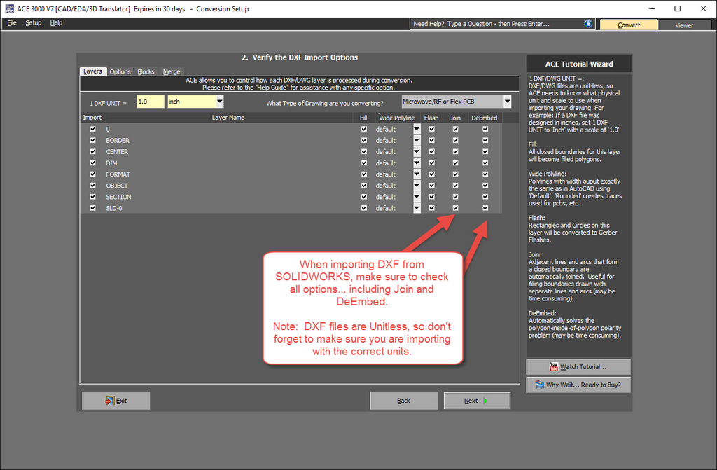 How to Convert a SOLIDWORKS DXF to Gerber  – Numerical
