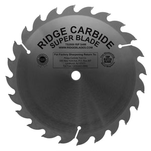 "10"" x 24 STR +20 .087 / .125"" Heavy Duty TS2000 Super Rip Saw"