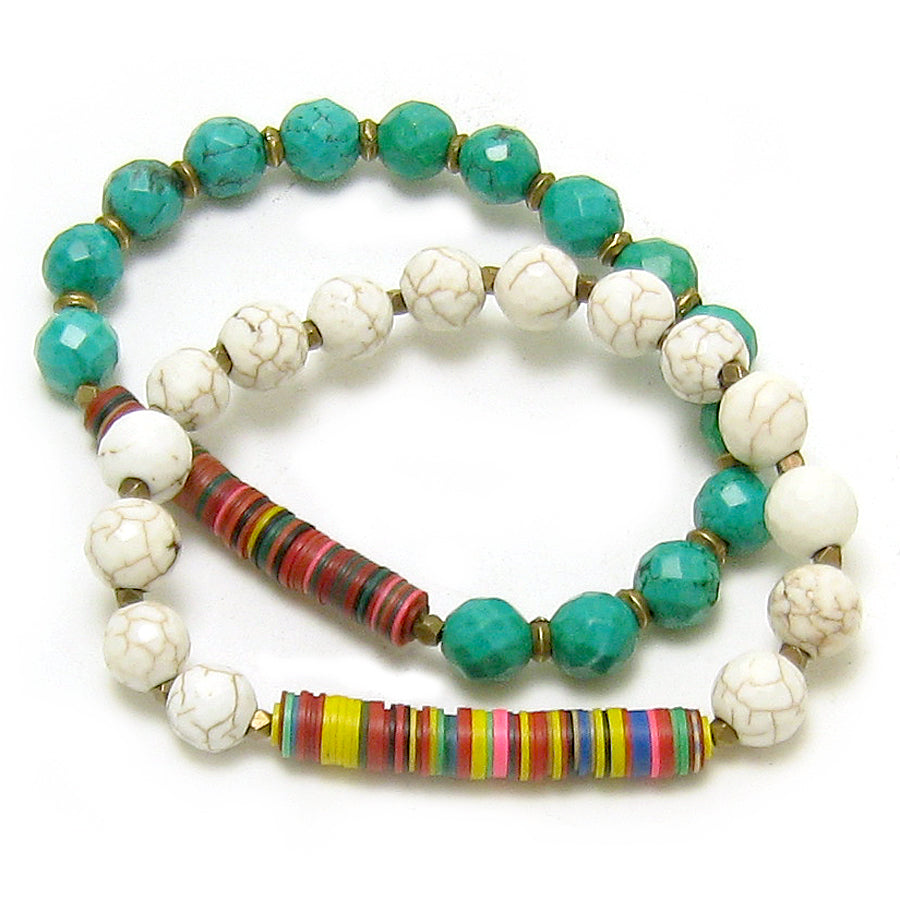 Vintage Vulcanite and Turquoise Bracelet as seen in Real Simple