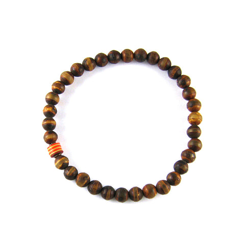 Dzi Bead and Vintage Vulcanite Bracelet