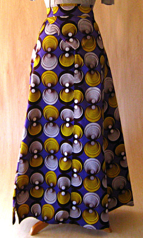 Huichol Skirt: Purple Cirus PRINT