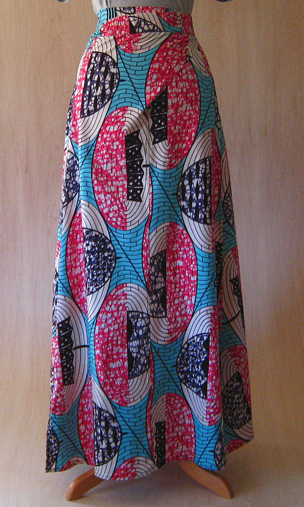 Huichol Skirt: Umbrella Print