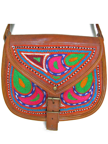 RAJASTHAN, INDIA: CAMEL LEATHER BAG
