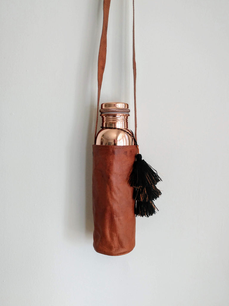 Tamra Leather Bottle Carrier
