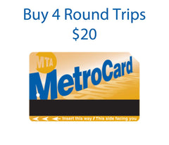 MetroCard 4 Round Trips $20