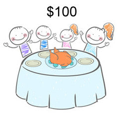 Help feed a family for $100