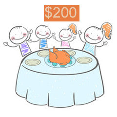 Help feed a family for $200