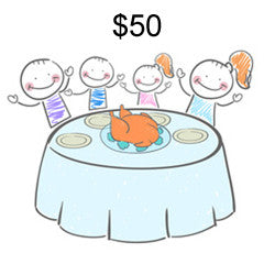 Help feed a family for $50