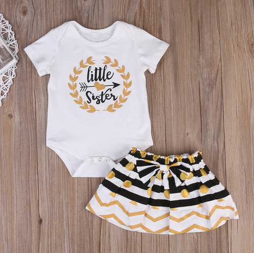 Little Sister shirt and Skirt set