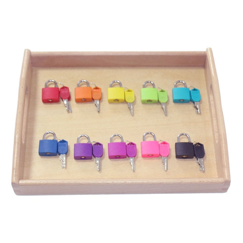 Wooden Tray Locks - Educational Sensory Toys (10 Locks)
