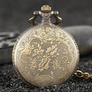 Vintage Bronze Pirate - Pocket Watch