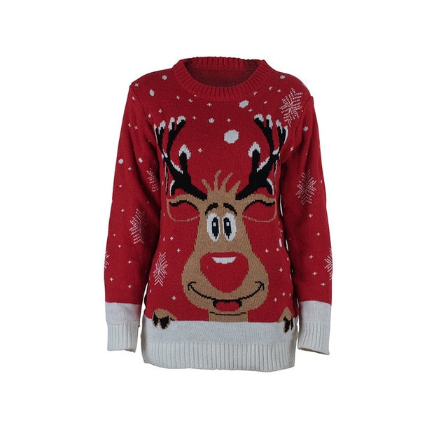 Ugly Christmas Jumper - Red reindeer Small - 4XL