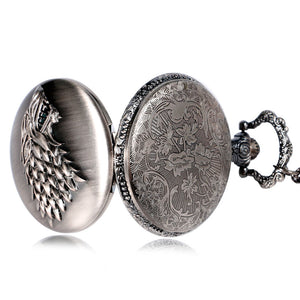 Game of Thrones inspired Vintage Pocket Watch - Direwolf