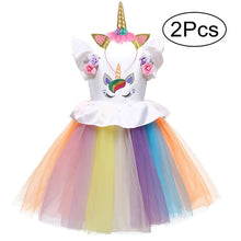 Load image into Gallery viewer, Unicorn Dress and Headband Sizes 2 - 6 - Various Colours
