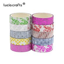 Load image into Gallery viewer, 10pcs Patterned Washi Tape