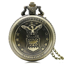 Load image into Gallery viewer, Vintage Bronze - Pocket watch (Military and Public service designs)
