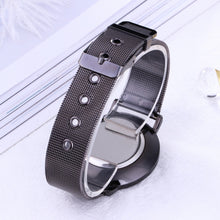 Load image into Gallery viewer, Ladies, Fashion watch - Black with a white face
