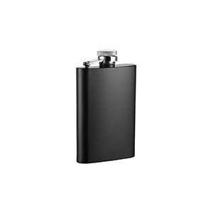 Visol Mini Black Matte Stainless Steel Liquor Flask - 4 ounces