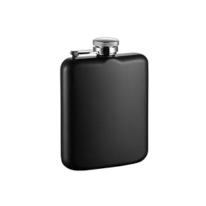 Visol Podova Black Matte Stainless Steel Liquor Flask - 6 ounces