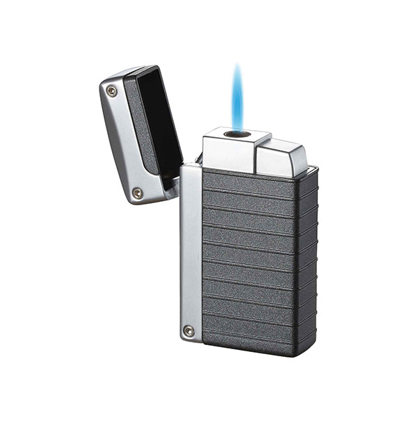 Visol Norfolk Charcoal Grey Matte Torch Flame Lighter
