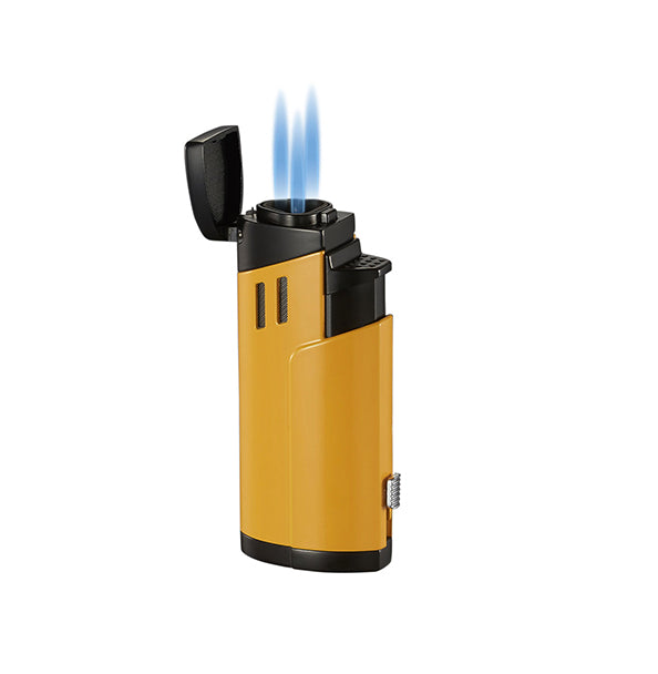 Visol Shavano Yellow Triple Flame Torch Lighter