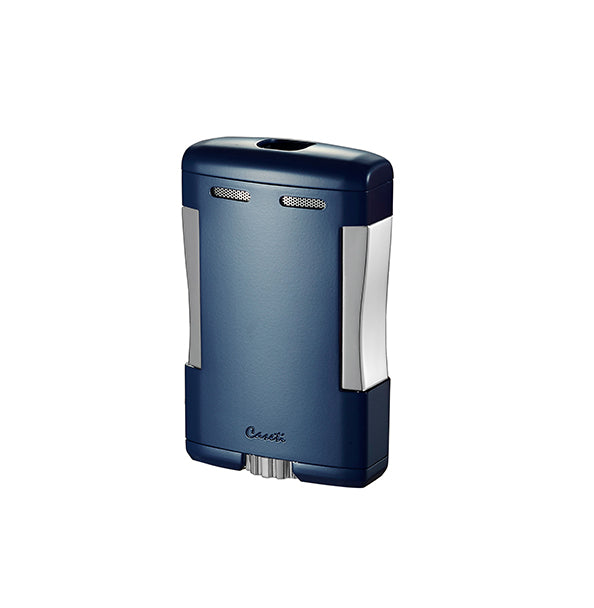Caseti Sparta Blue Matte Triple Torch Flame Cigar Table Lighter