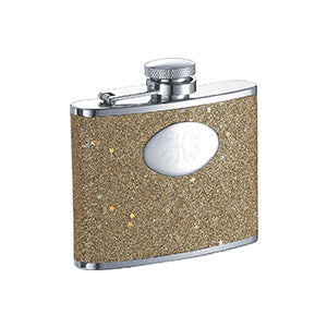 Visol Supernova Gold Glitter 4-oz. Flask