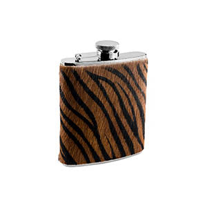 Visol Tiger Fur Pattern Liquor flask - 6 ounce