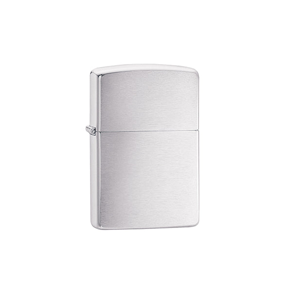 Zippo Lighter Brushed Chrome Finish